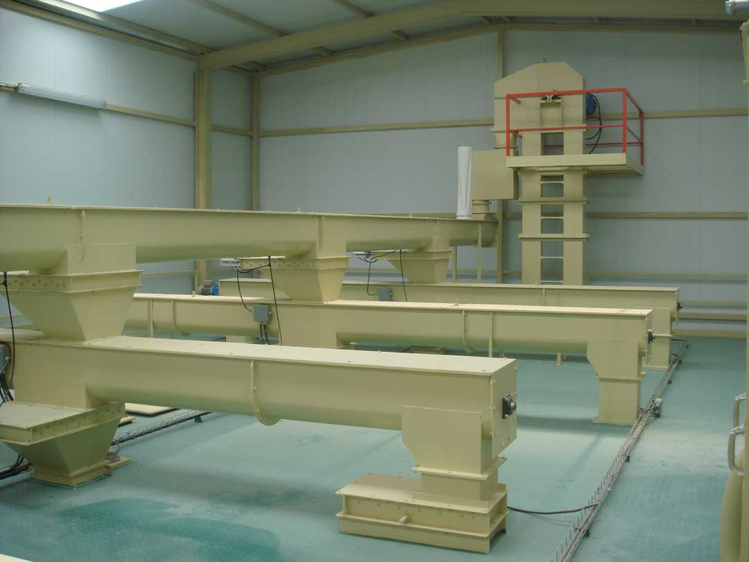 Helical or screw conveyors