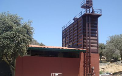 Cattle feed mill in Madrid, Spain