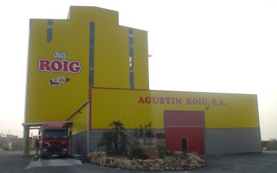 Poultry feed mill Ous Roig in Tarragona, Spain