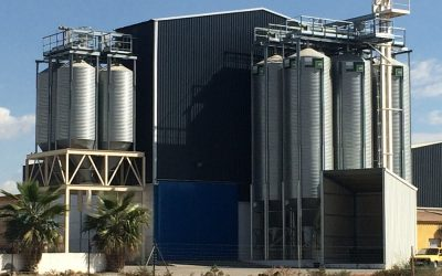 Pig feed mill in Castuera (Badajoz), Spain