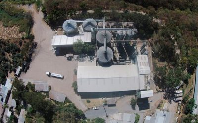 Aerial view of the Granjazul feed mill in Guatemala