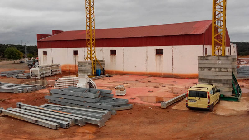 Installation of a feed mill for Cepiva in Badajoz
